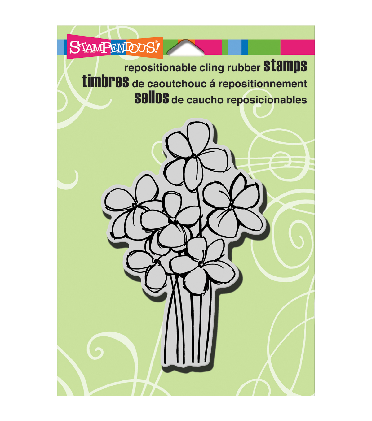 Stampendous Blossom Bunch Cling Rubber Stamp Sheet