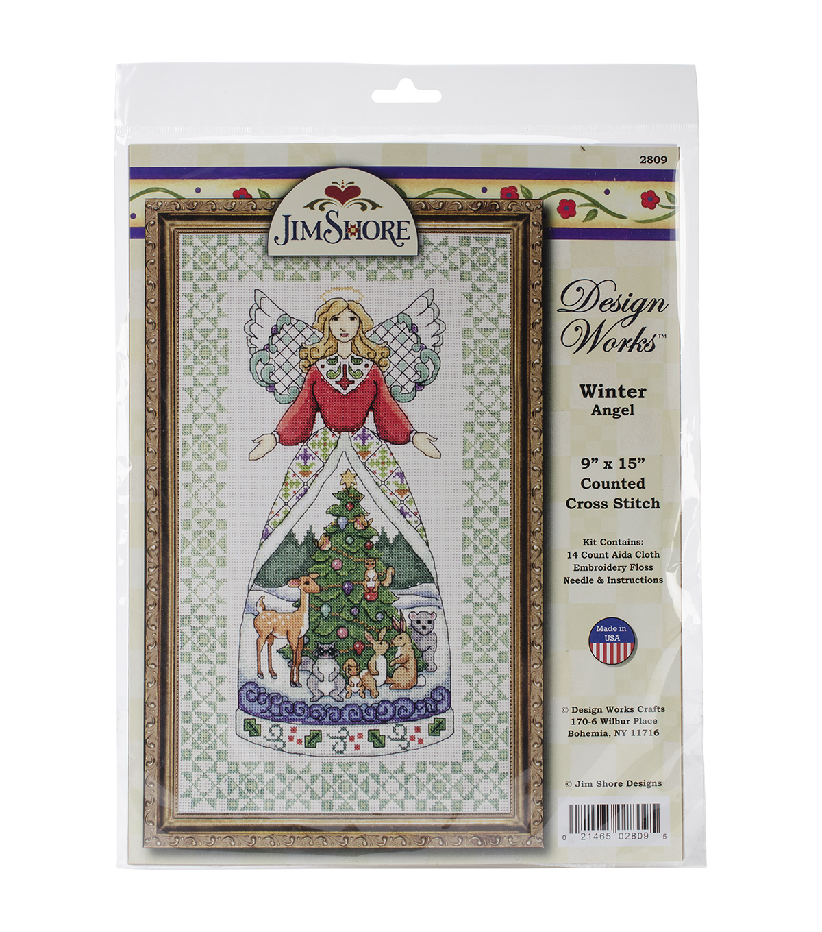 "Winter Angel-Jim Shore Counted Cross Stitch Kit-9""X15"" 14 Count"