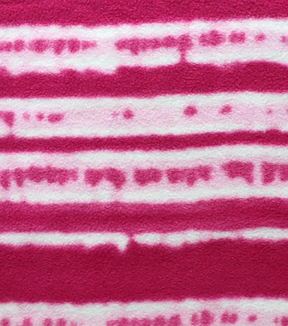 Anti-Pill Fleece Fabric 59\u0022-Fucshia Stripe Tiedye