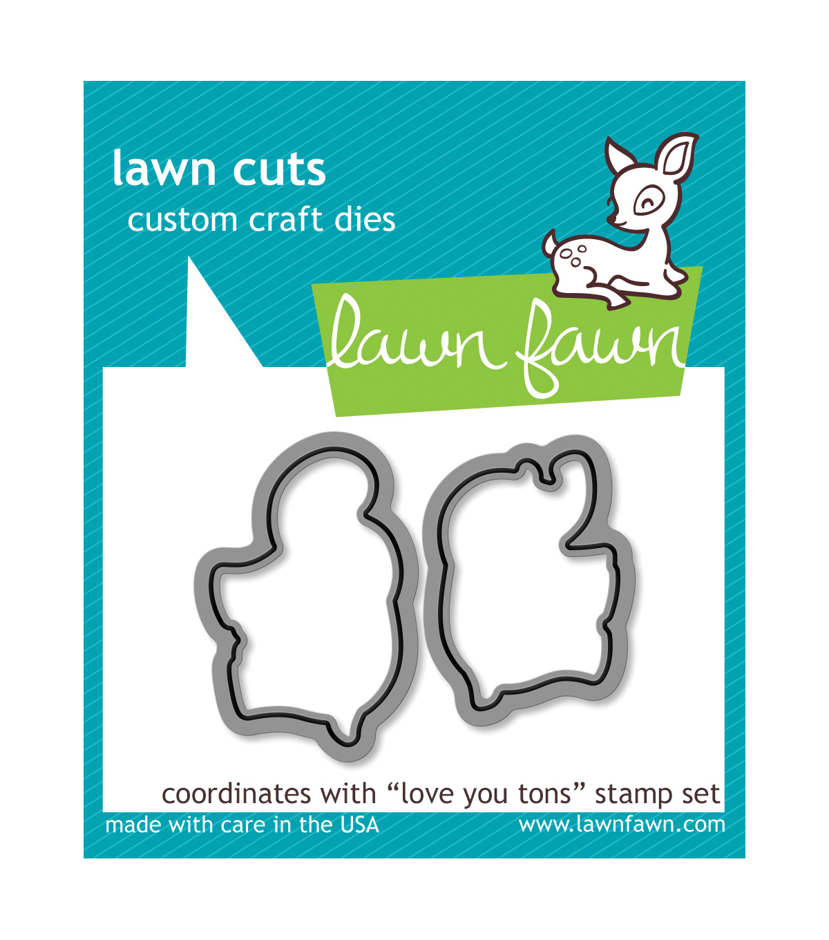 Lawn Fawn Lawn Cuts Custom Craft Die -Love You Tons