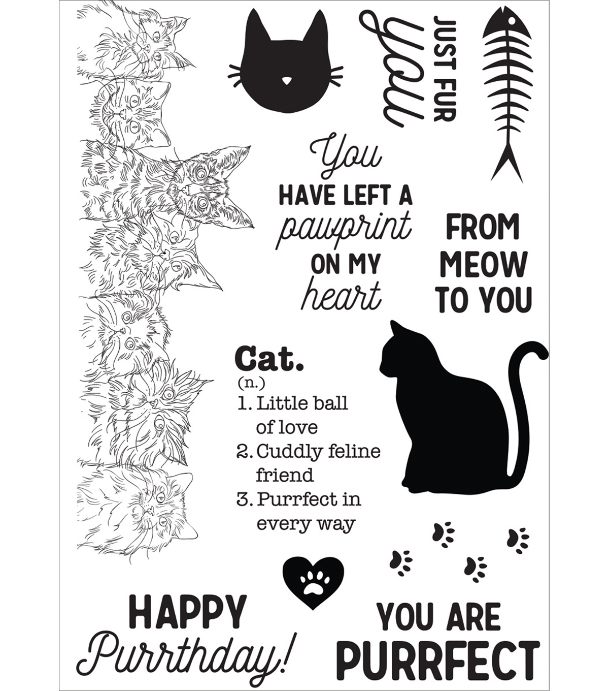 Pawfect Clear Stamps 6\u0022X4\u0022-Cat