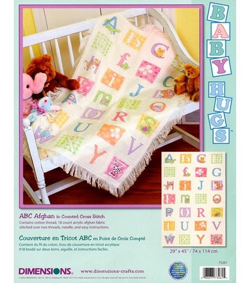 Dimensions Baby Hugs Counted Cross Stitch Kit ABC Afghan