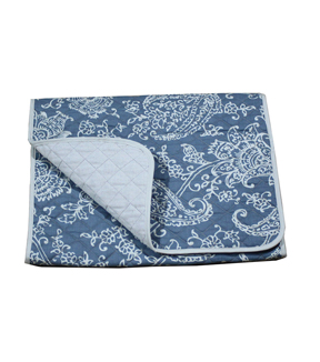 Hudson 43 Farm 14\u0027\u0027x72\u0027\u0027 Table Runner-Paisley on Blue