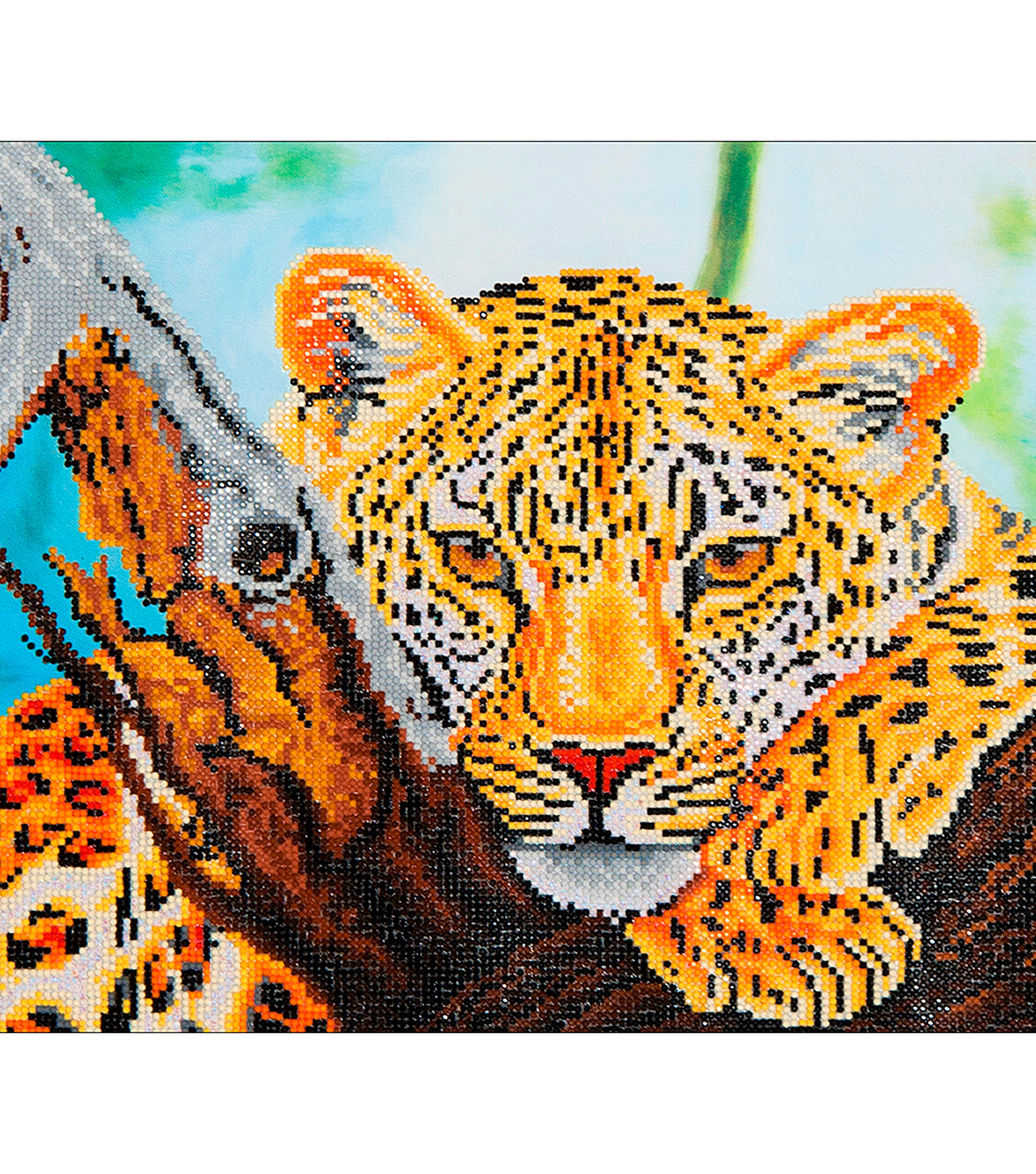 Diamond Embroidery Facet Art Kit 21.7\u0022X17.2\u0022-Leopard Look