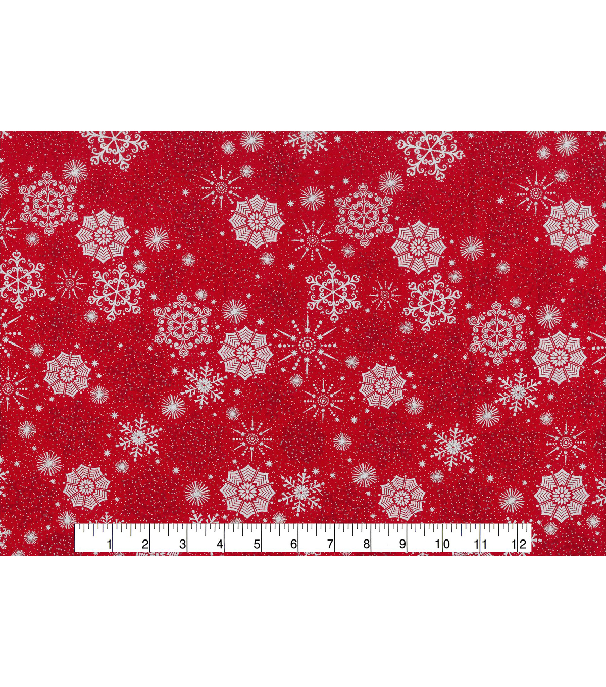 Keepsake Calico™ Holiday Cotton Fabric 43\u0022-Metallic Snowflake