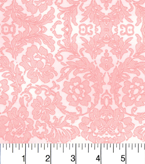 Two Daughters™ Cotton Fabric 43\u0022-Tonal Lace Pink