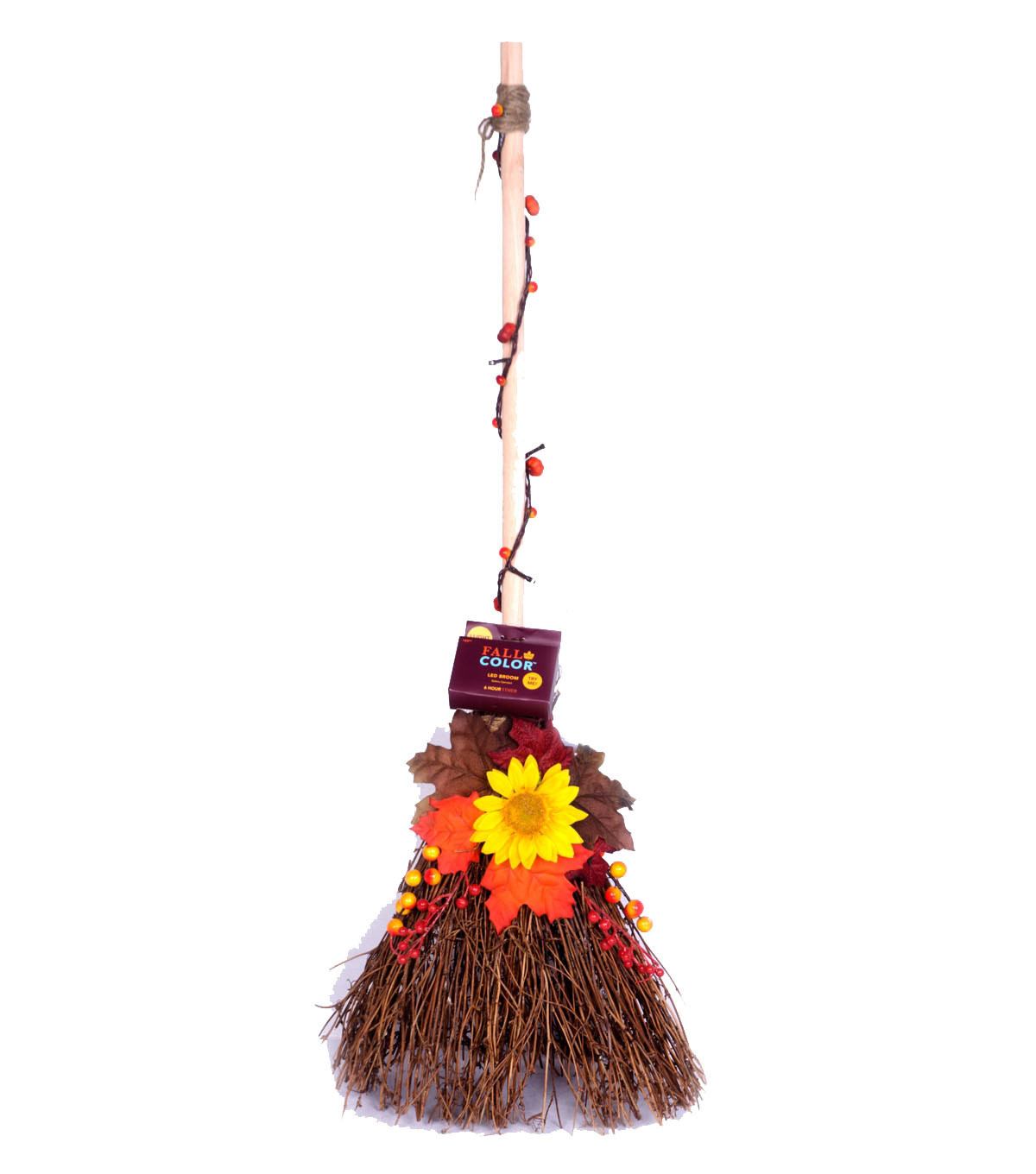 Fall Into Color 26'' Autumn Lighted Broom