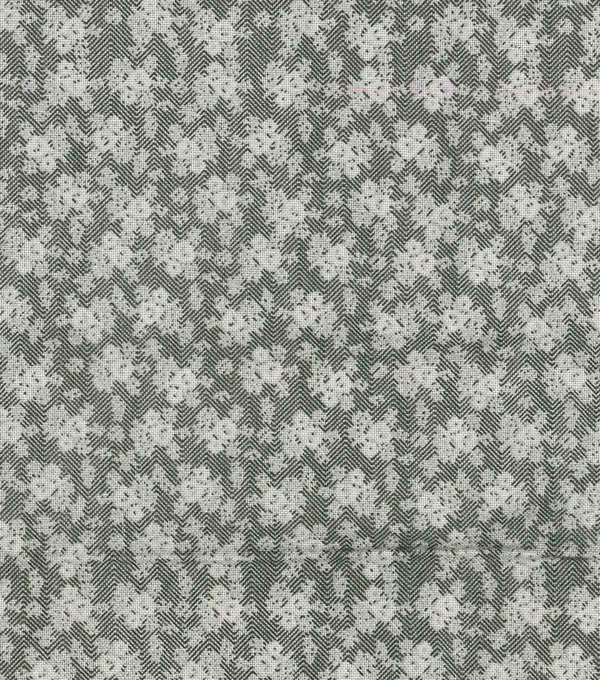 Vintage Cotton Fabric 43\u0022-Ditsy Floral Herringbone