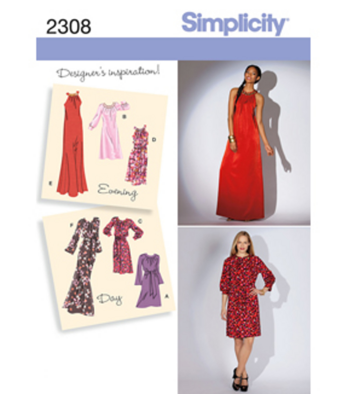 Simplicity Pattern 2308H5 6-8-10-12--Simplicity Misses