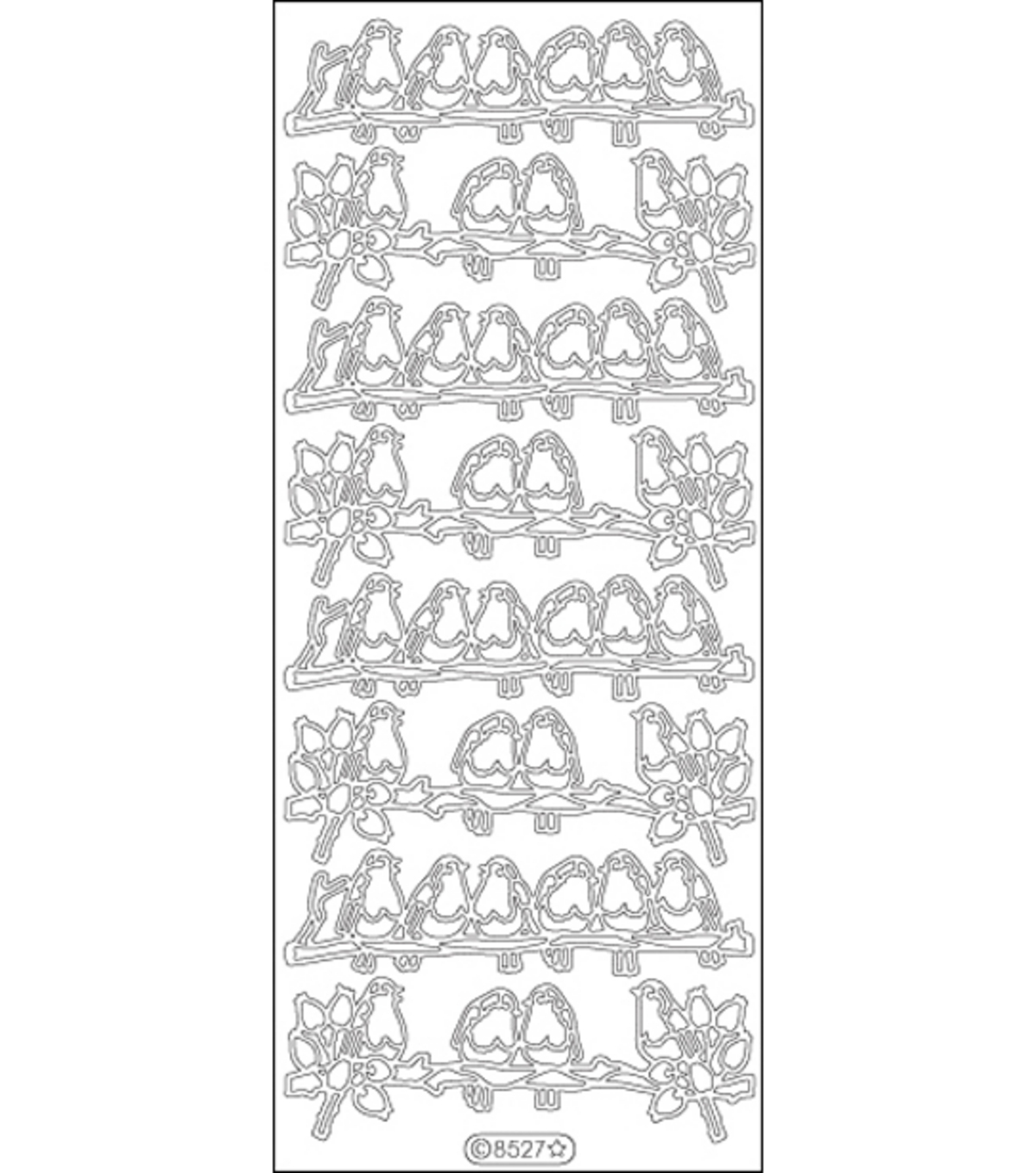 Elizabeth Craft Designs Redbreasts Peel Off Stickers 4\u0022X9\u0022 Sheet-Black