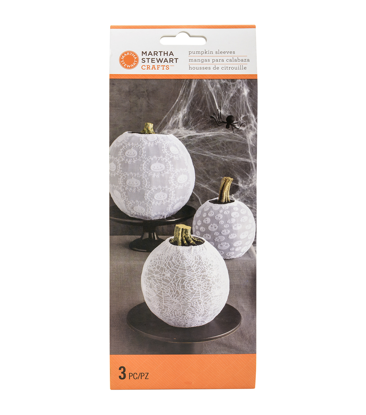Martha Stewart CraftsWhite Pumpkin Sleeves 3/Pkg-Spooky Night