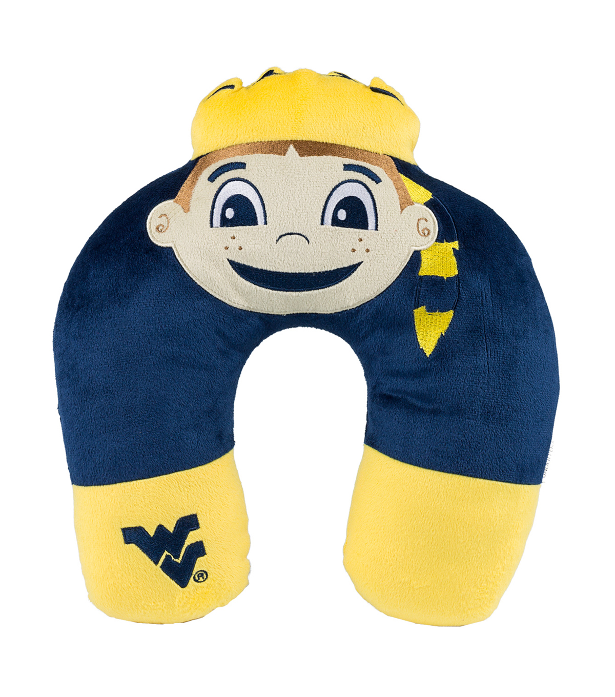 West Virginia University Mountaineers Neck Pillow