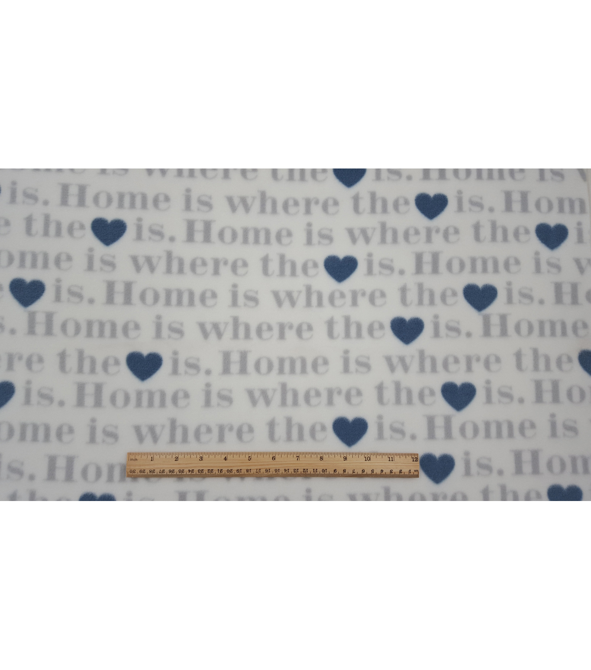 Anti-Pill Fleece Fabric 59\u0022-Serene Home Words