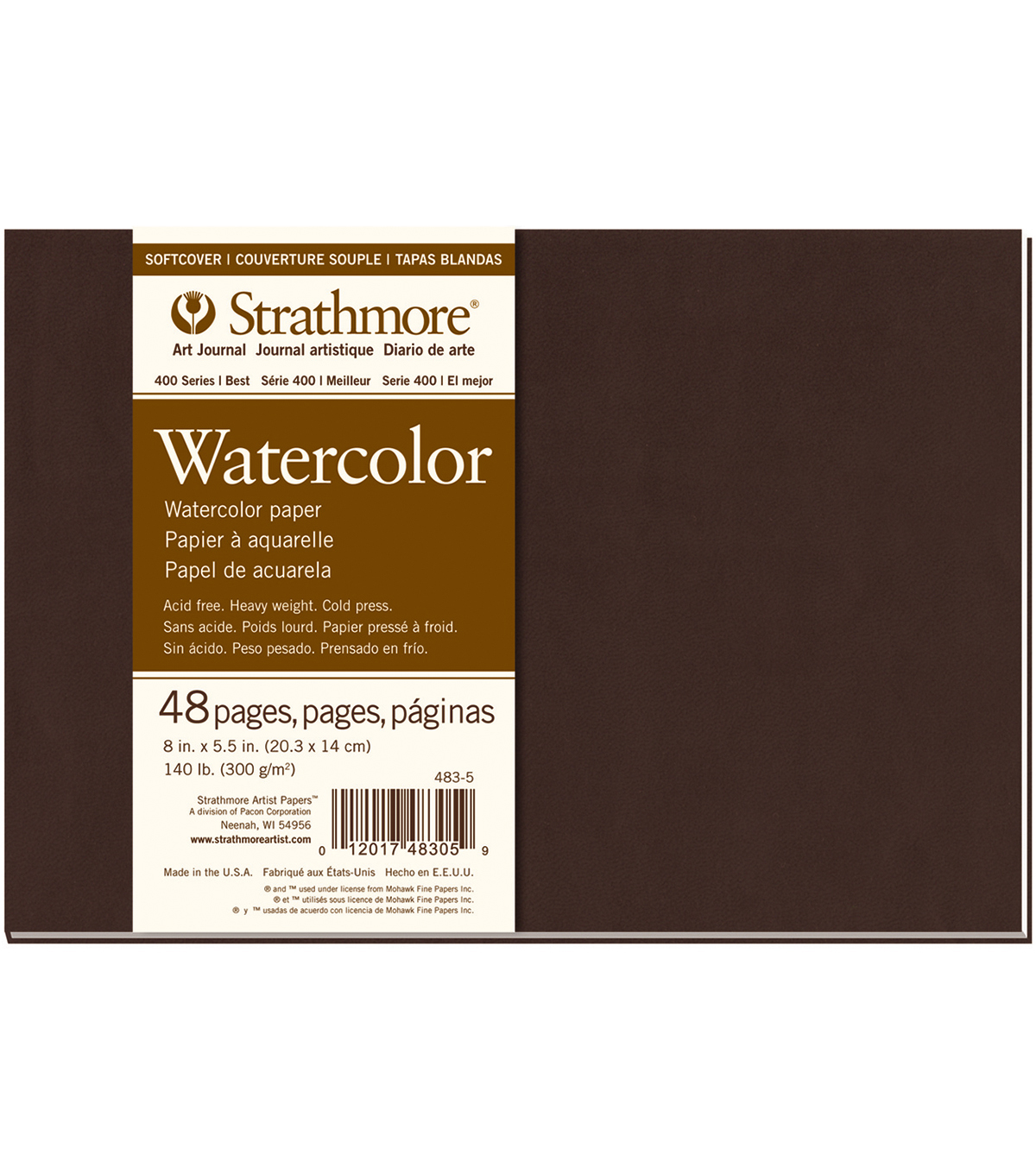 Strathmore Soft Cover Watercolor Journal Book With 48 Pages 8\u0027\u0027x5.5\u0027\u0027