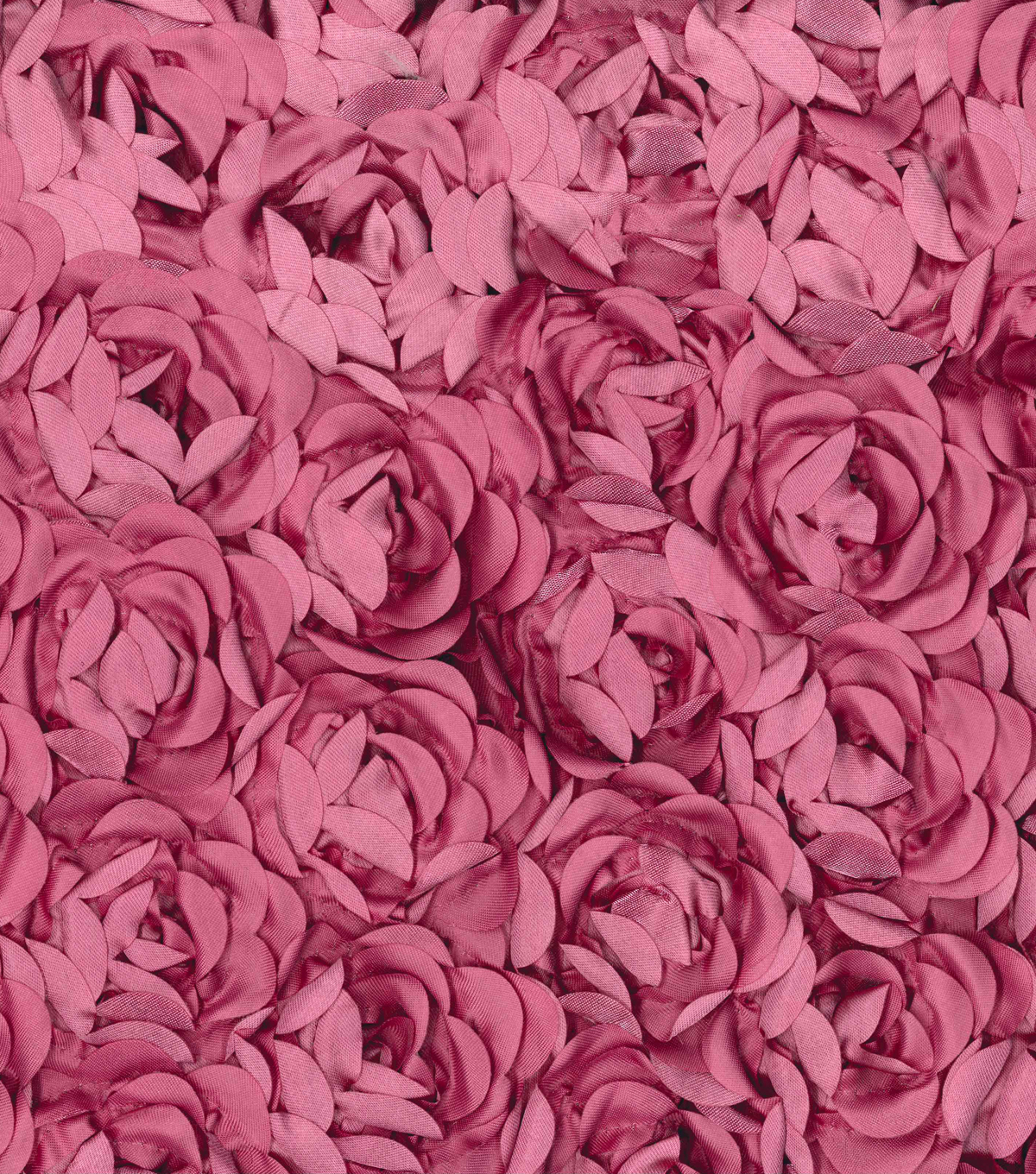 All That Glitters Satin Rosette Fabric 57''-Rose
