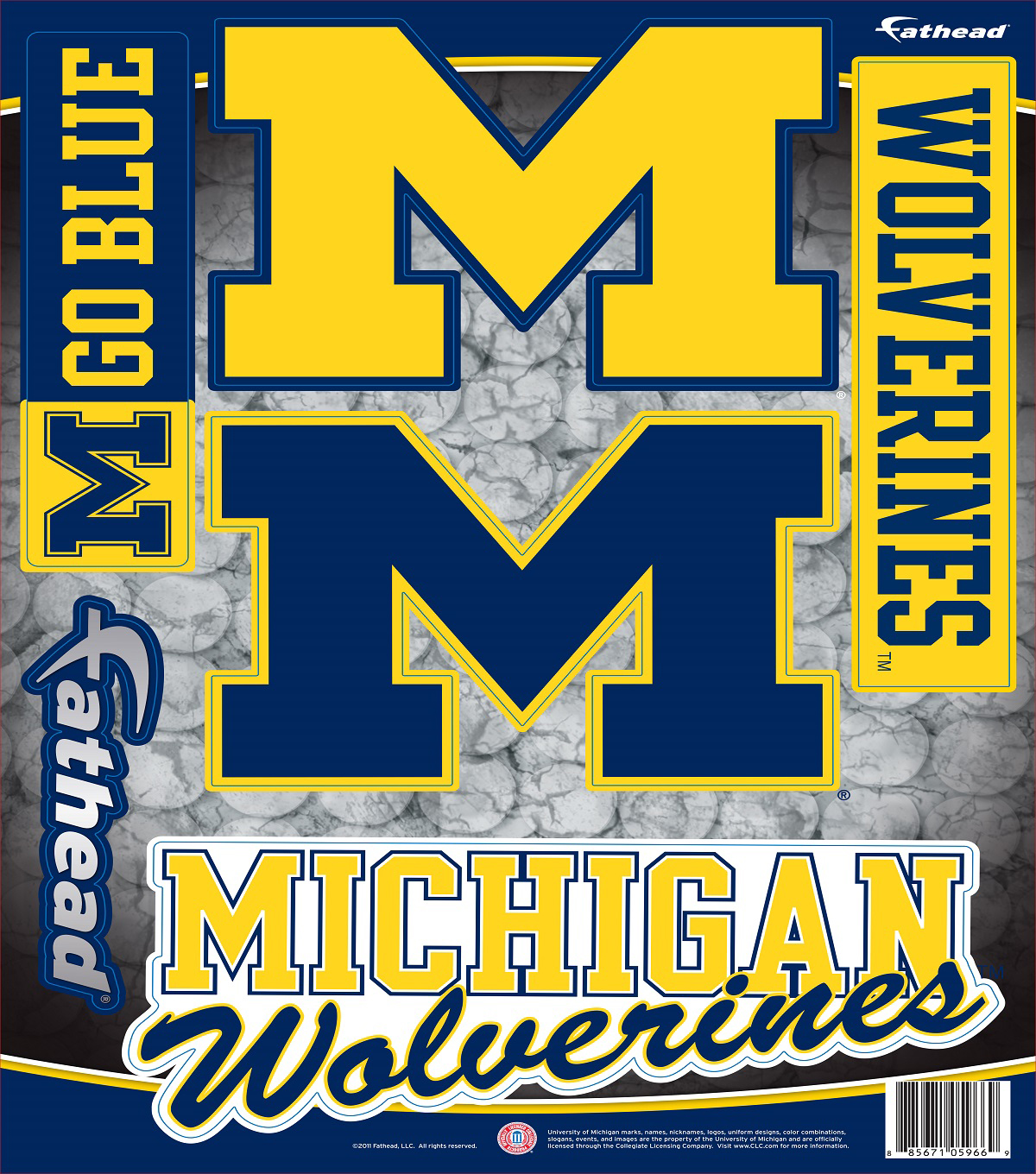 University of Michigan Fat Head Wall Decal-Assorted Logos