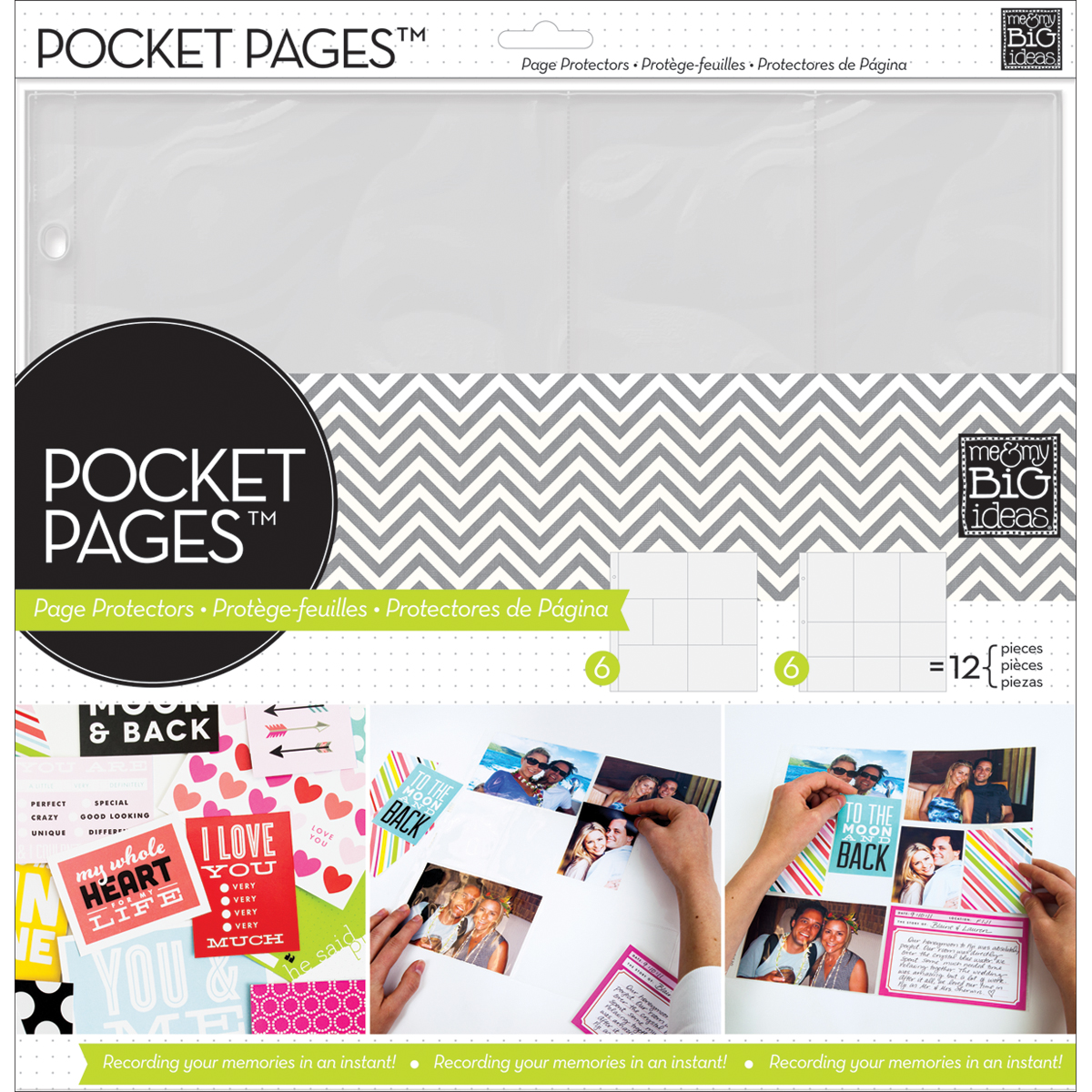Me & My Big Ideas Pocket Pages Photo Protectors Layout 2