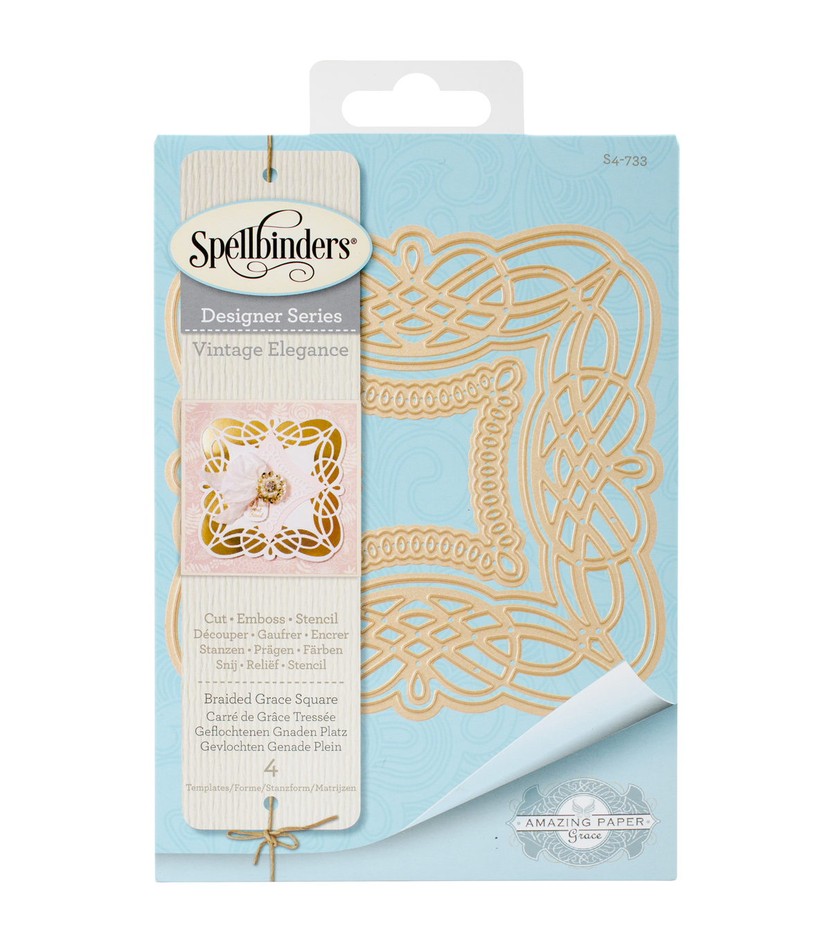 Spellbinders® Nestabilities® Etched Die-Braided Grace Square