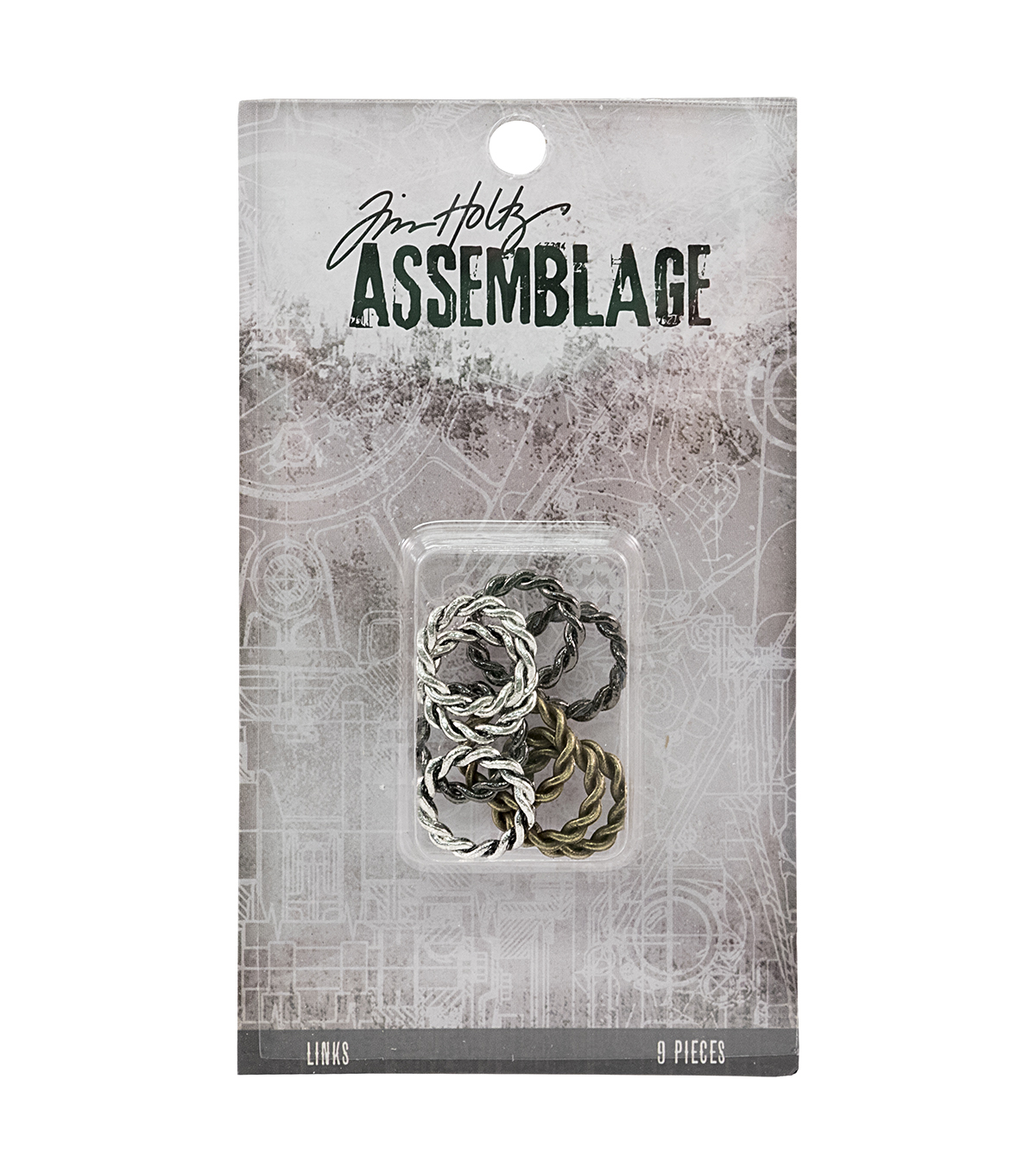 Tim Holtz Assemblage Links-Braided Rings