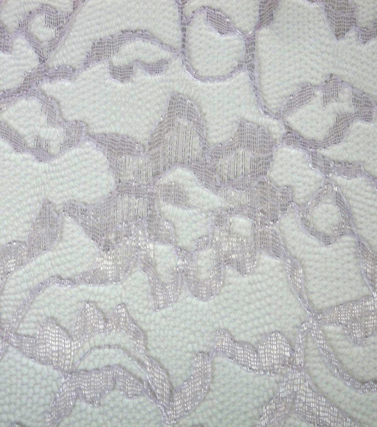 Casa Collection Fabric-Casa Lace Gray Lilac