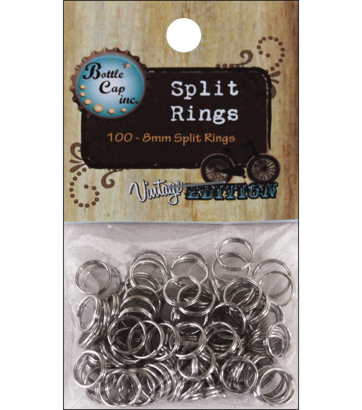 Vintage Collection Split Rings 8mm 100/Pk-Silver