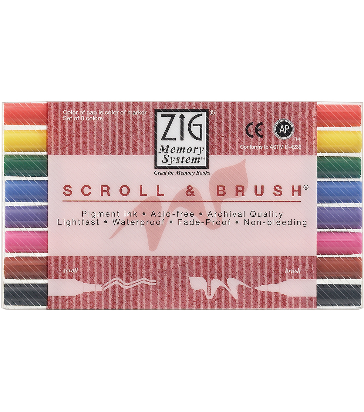 Zig Memory Scroll & Brush Dual-Tip Markers-8PK