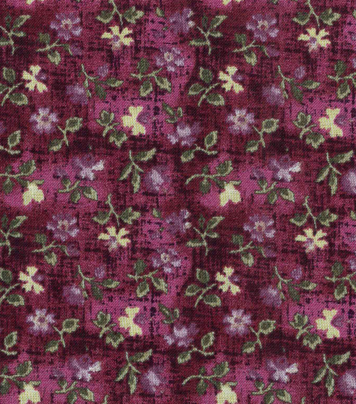 Vintage Cotton Fabric 43\u0022-Mini Tossed Floral Purple