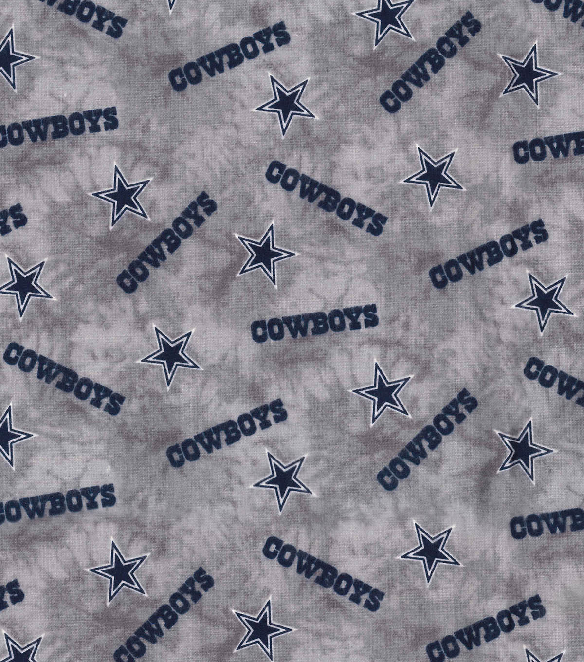 Dallas Cowboys Flannel Fabric 42\u0022-Tie Dye