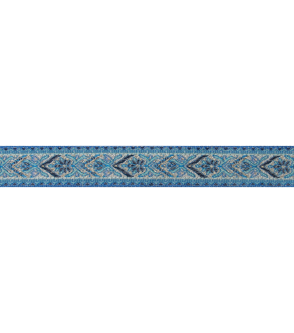 3/4\u0022 Blue Metallic Band Apparel Trim