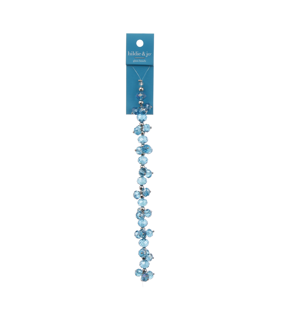 Blue Moon Beads 7\u0022 Crystal Strand, Dangles, Light Blue
