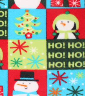 Anti-Pill Fleece Fabric 59\u0022-Patch Bright Santa