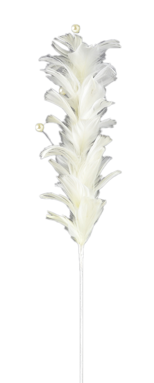 "Bloom Room 24"" Single Deco Feather Stem-Wool"