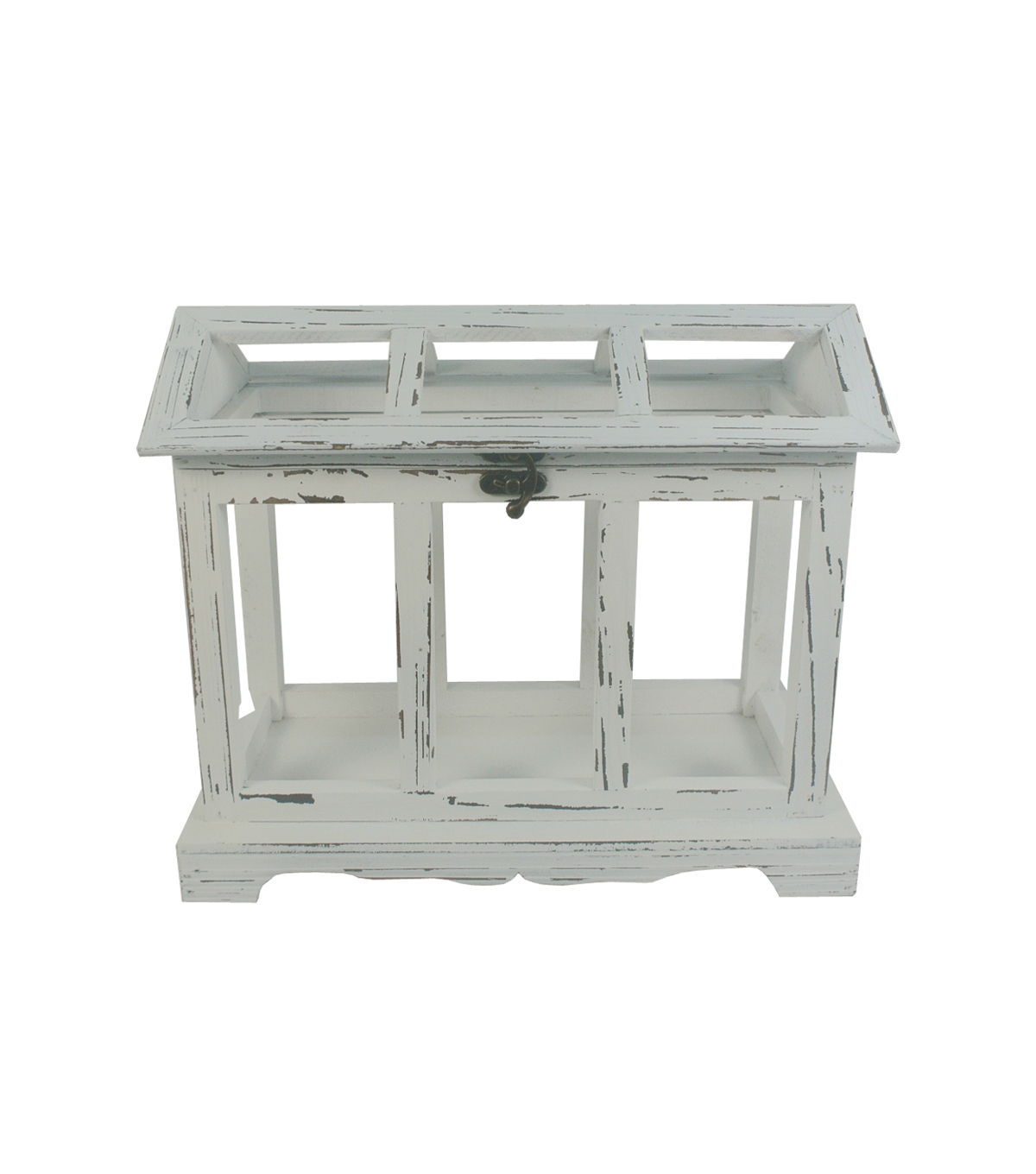 Bloom Room Wood Greenhouse-White Distressed