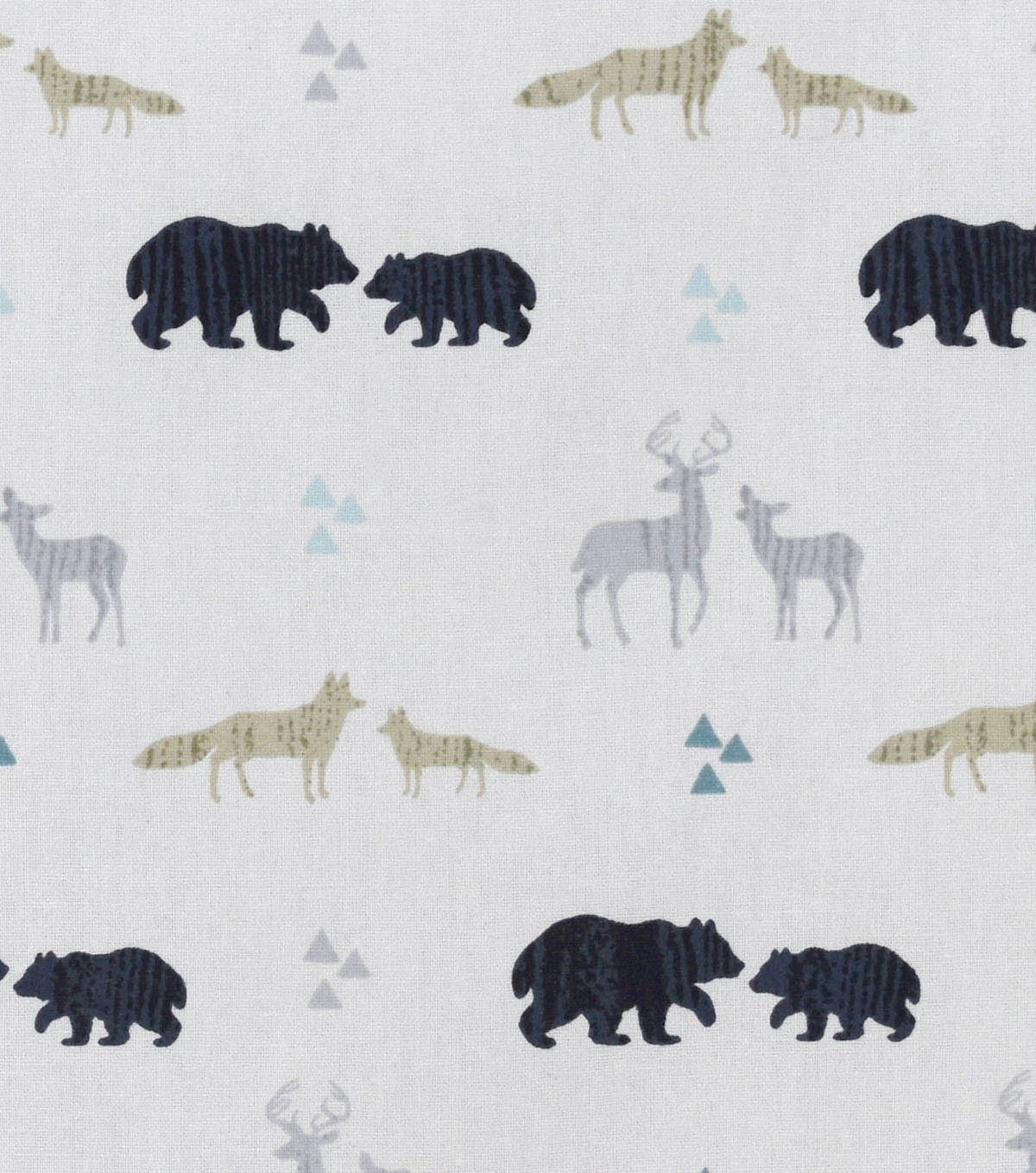 Nursery Flannel Fabric 42\u0022-Tossed