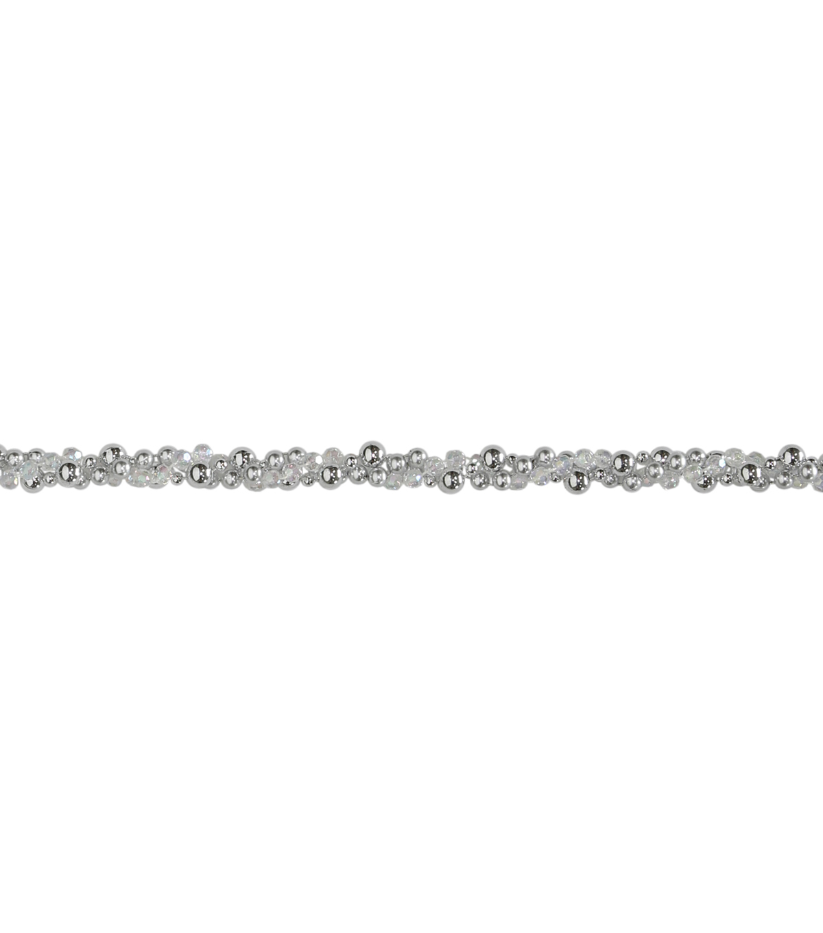 Maker\u0027s Holiday Twisted Bead Garland-Silver
