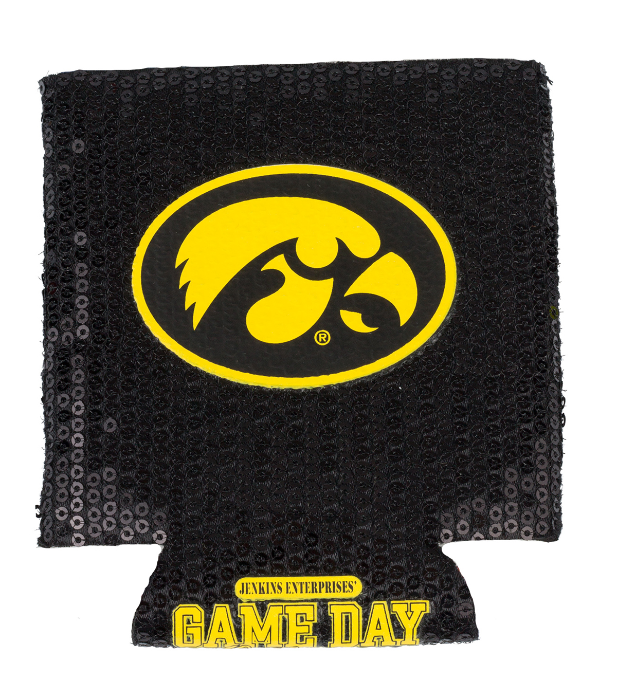 University of Iowa Hawkeyes Sequin Koozie