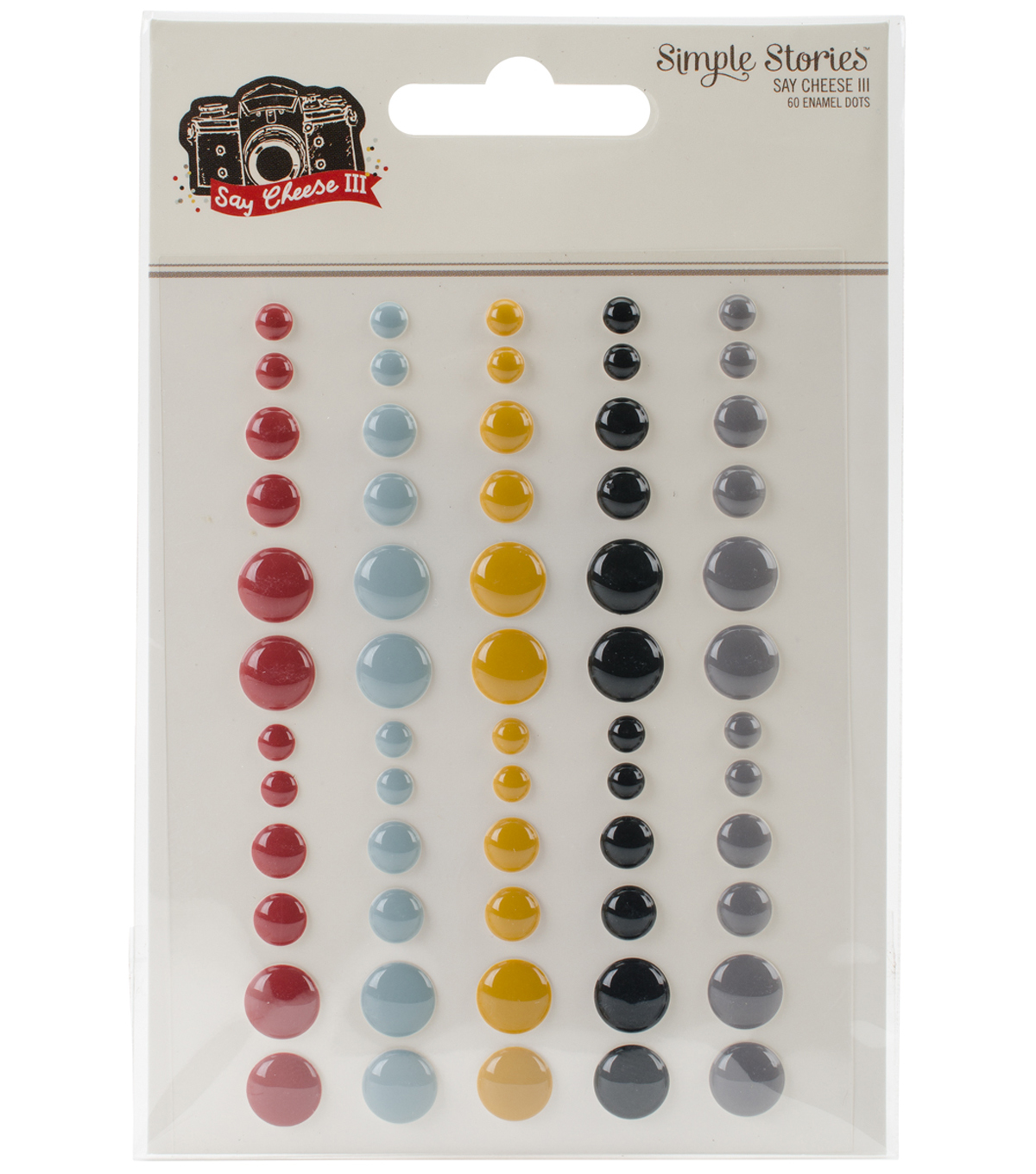 Say Cheese III Enamel Dots Embellishments