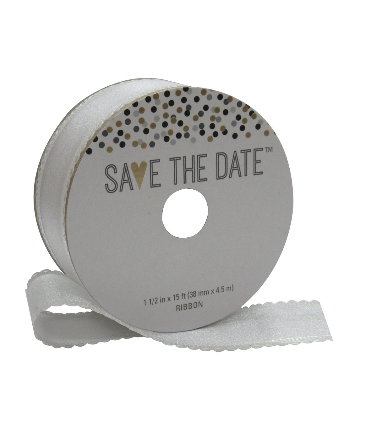 Save the Date 1.5'' X 15' Ribbon-Looped Iridescent