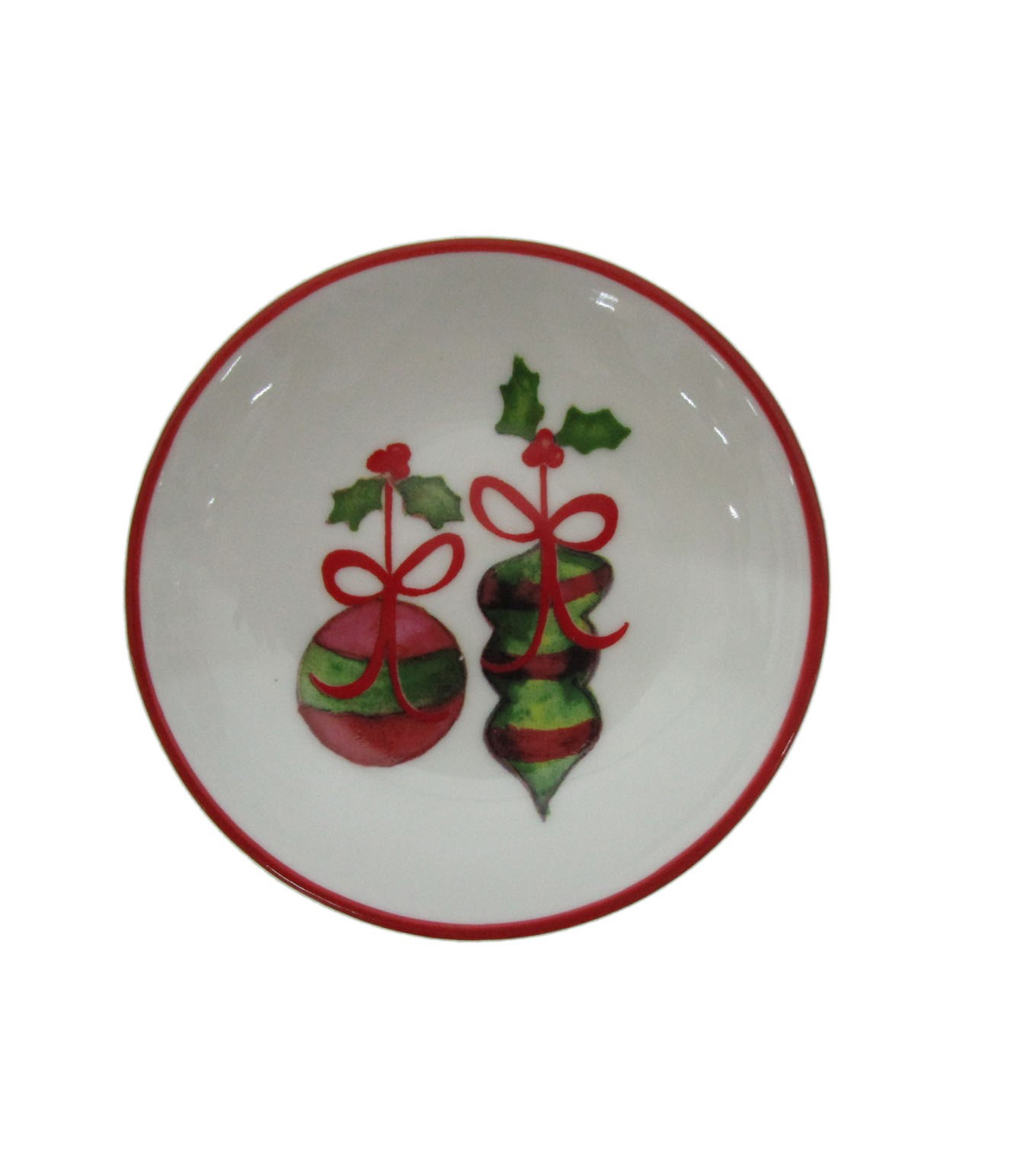 Maker\u0027s Holiday Christmas Stoneware Round Plate-Ornaments