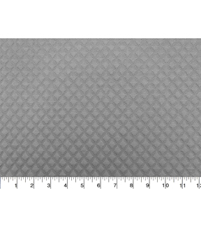Knit Apparel Fabric-Quilted Diamond Gray Knit