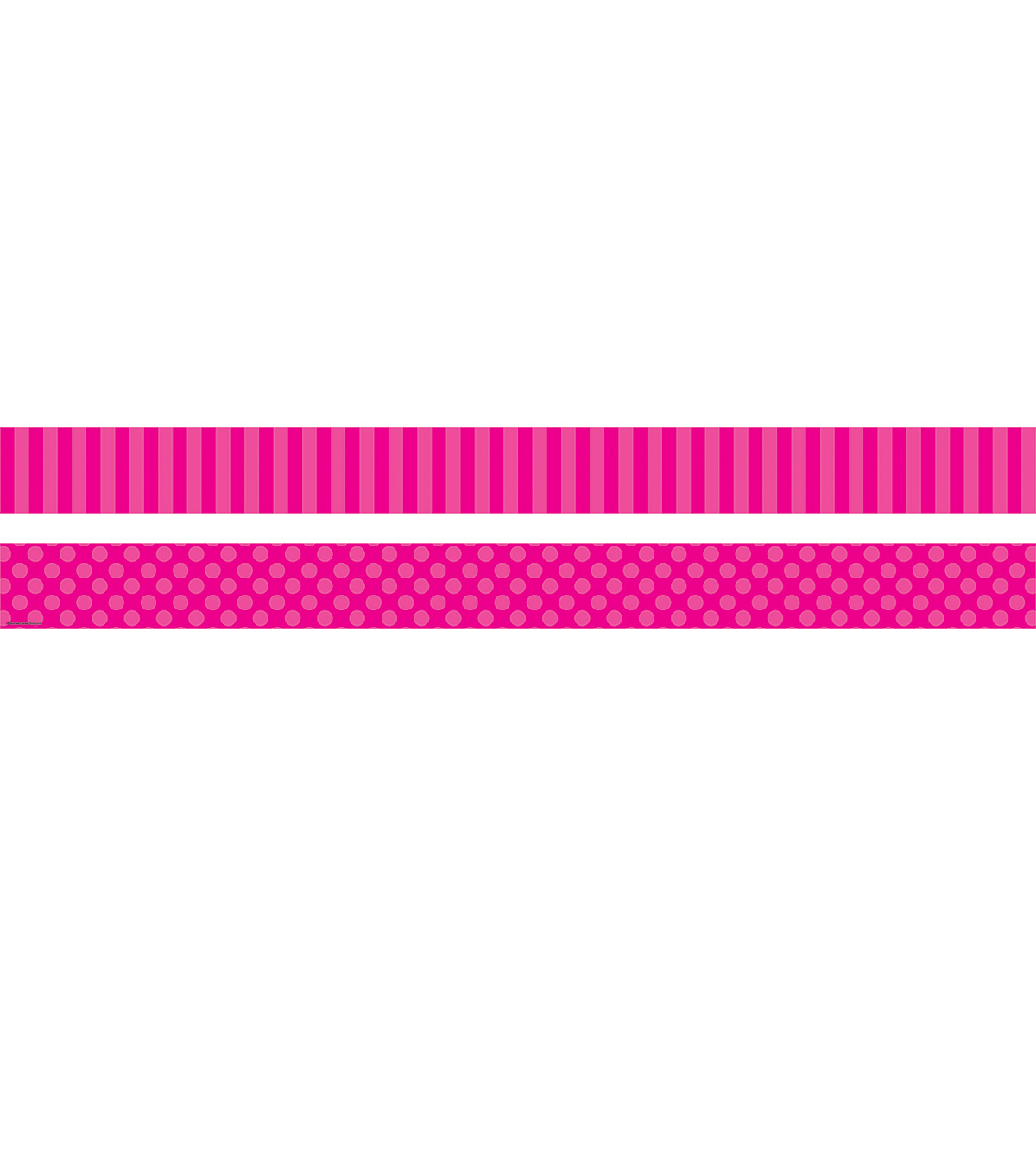Pink Sassy Solids Double-Sided Border