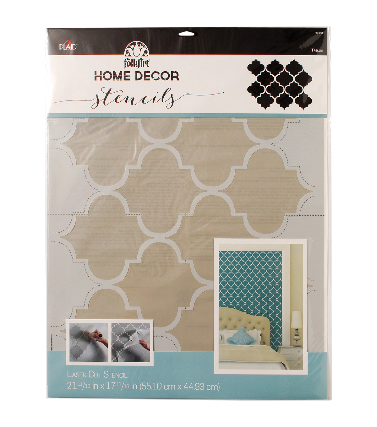 FolkArt Home Decor Wall Stencil-Trellis