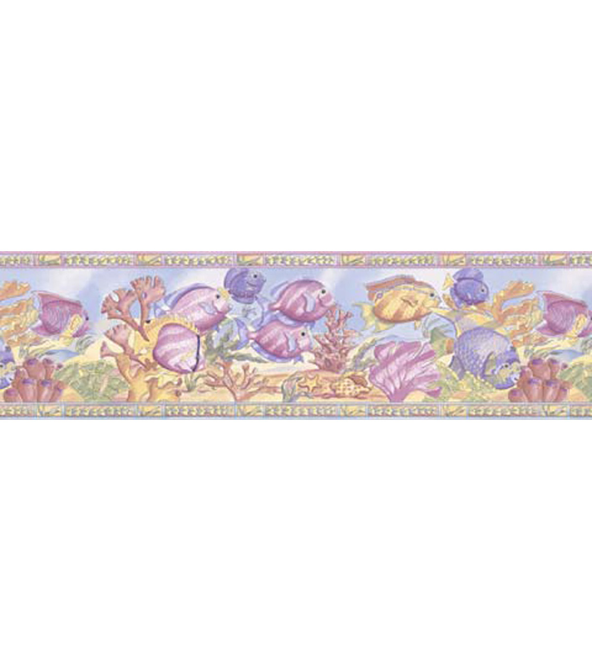Underwater Scene Wallpaper Border, Multicolor Sample