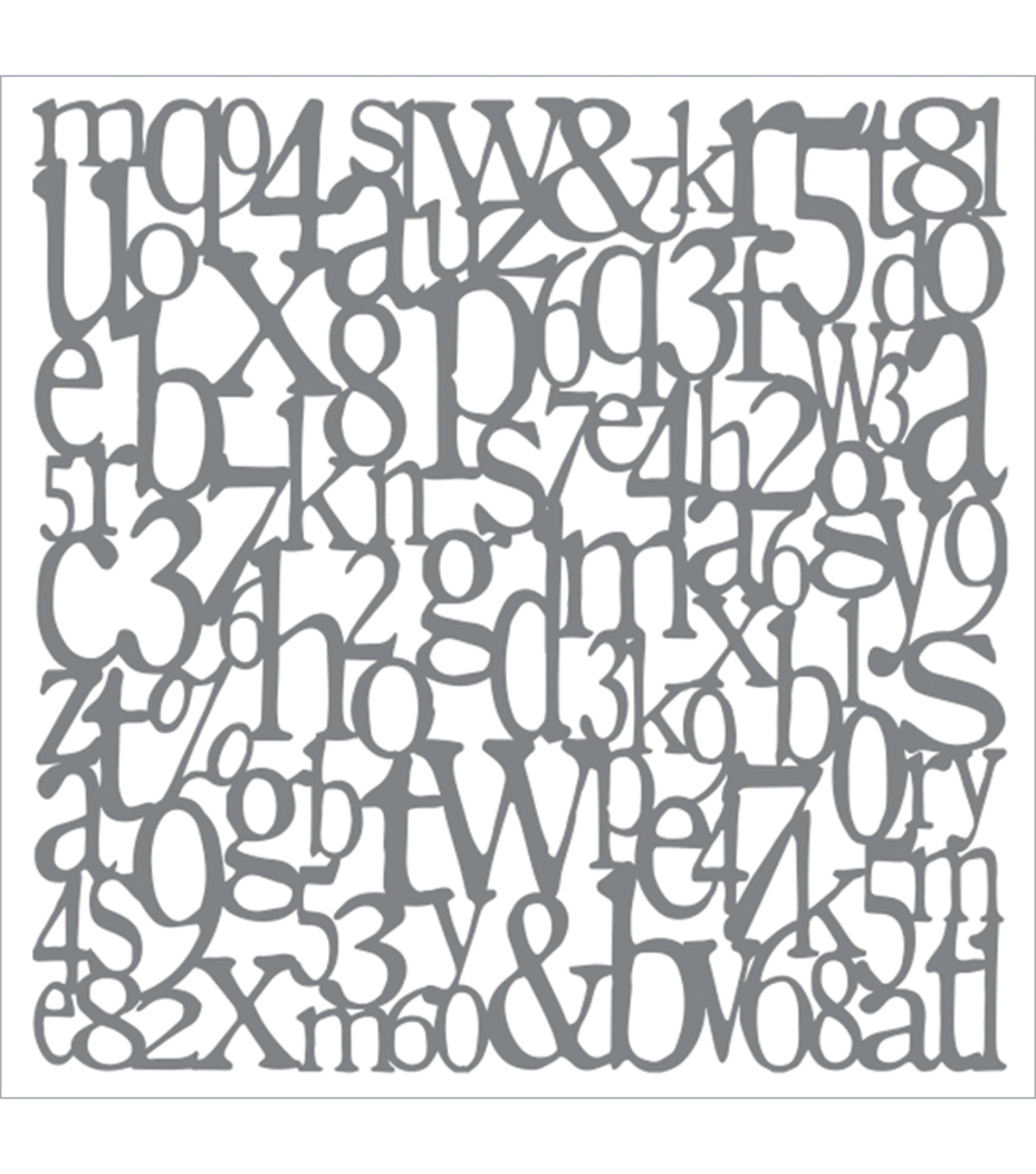 DecoArt® Andy Skinner Mixed Media 8\u0027\u0027x8\u0027\u0027 Stencil-Alphabet Spaghetti