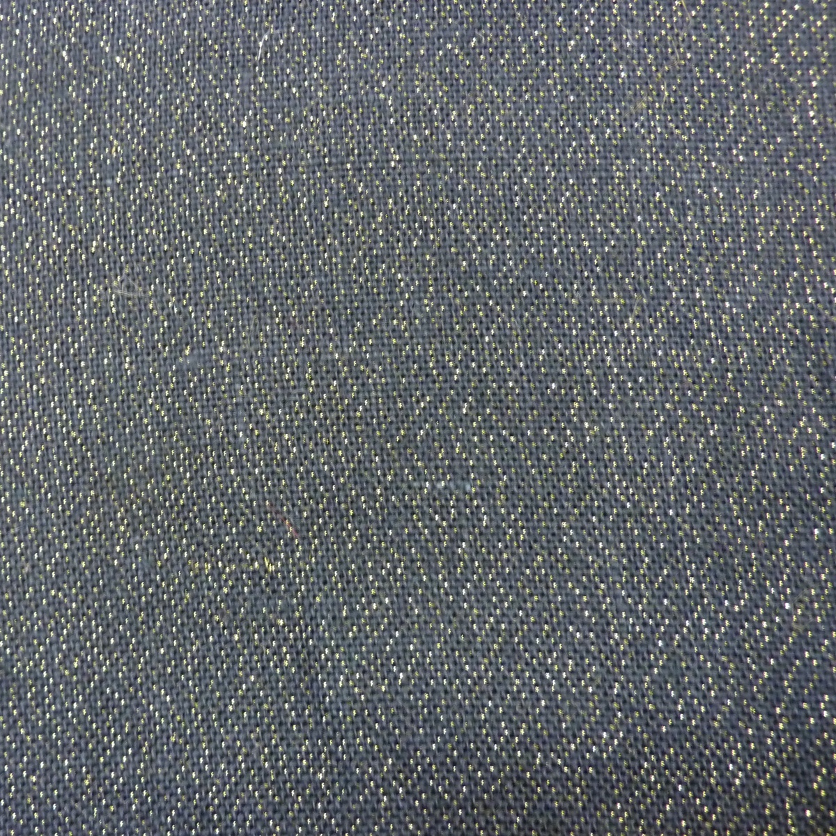 Utility Fabric-Burlap Black Metallic