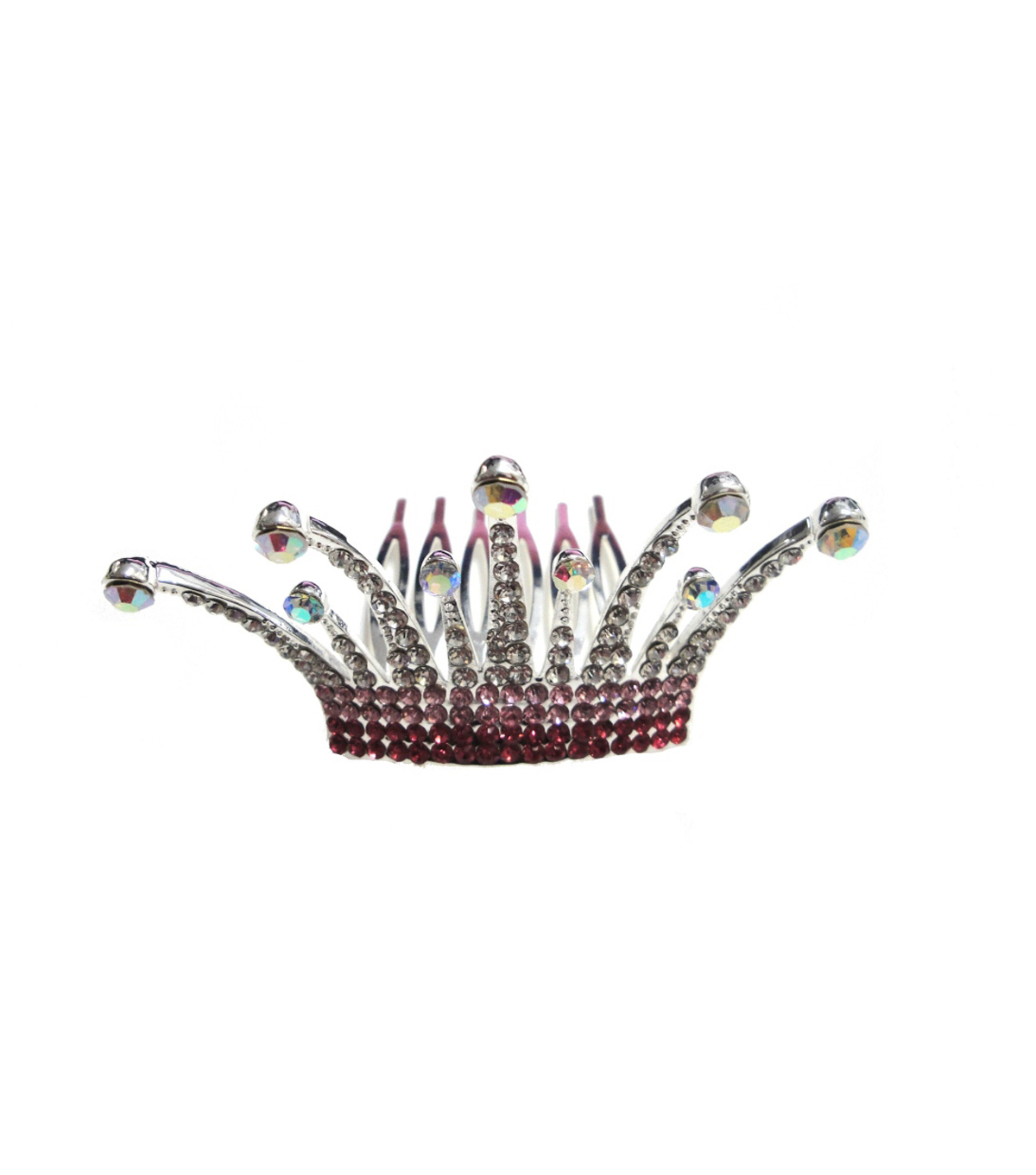 Maker's Halloween Diaden Tiara with Comb-Pink & Silver