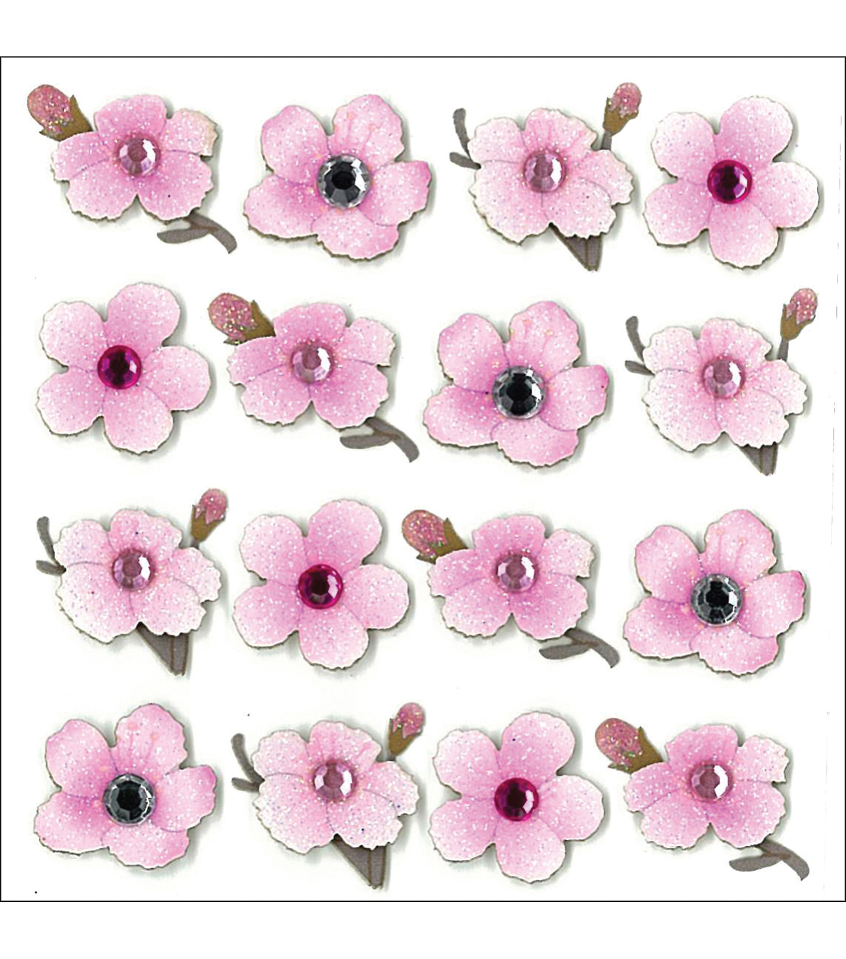Jolee\u0027s Mini Repeats Stickers-Cherry Blossom