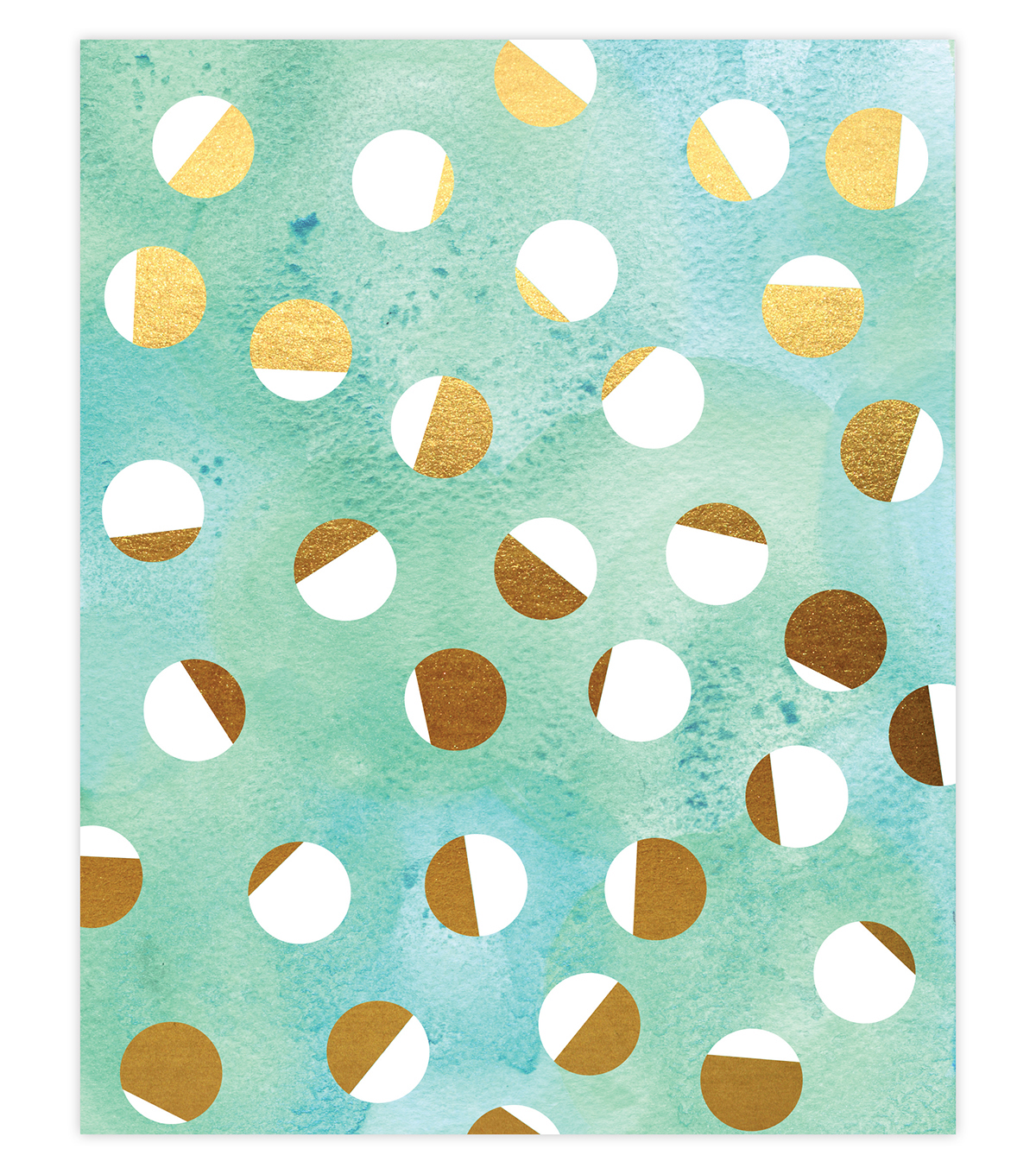 Creative Girl by Julie Comstock™ Watercolor Canvas Block Gold Dots