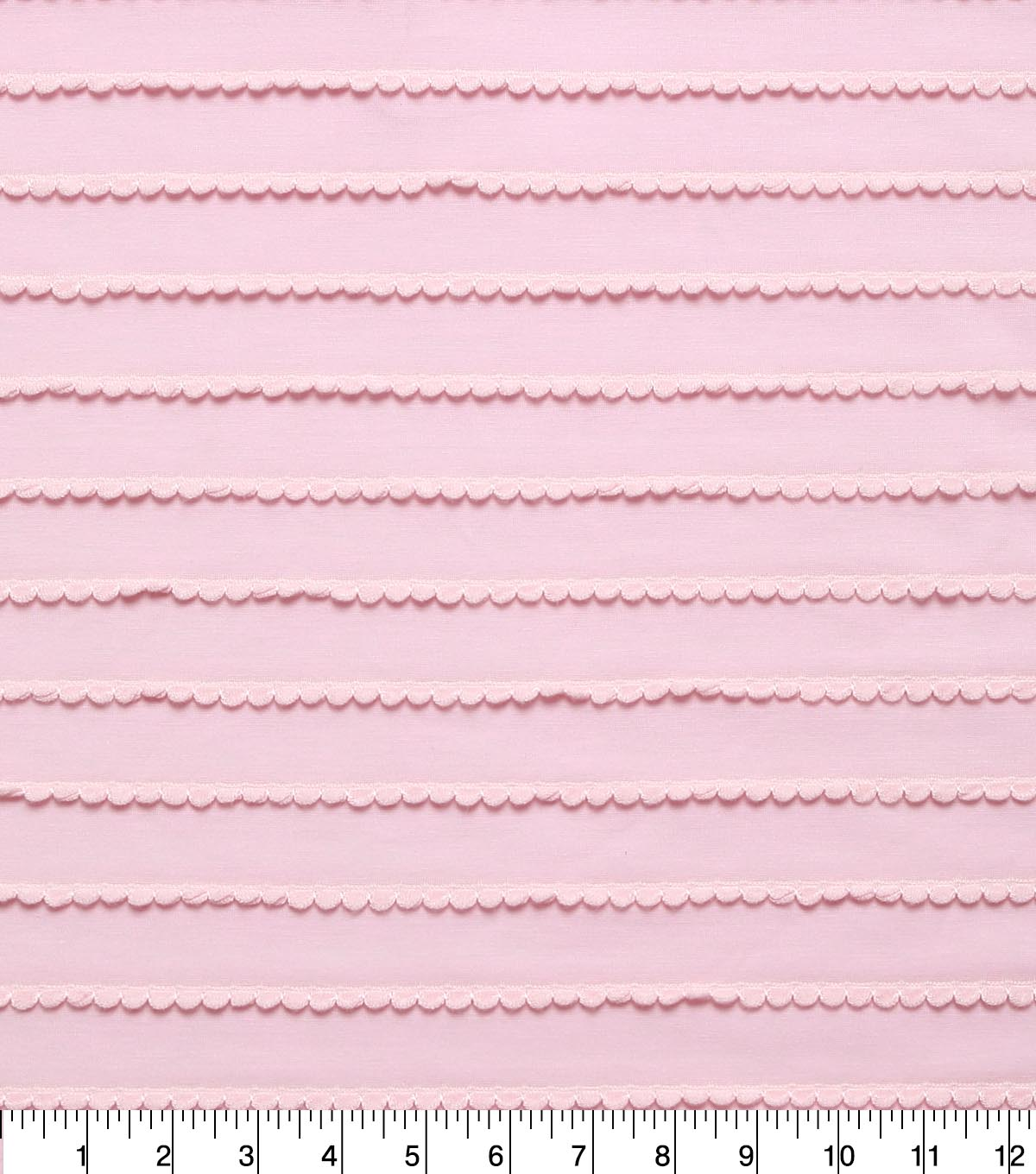 Doodles® Polyester Rayon Fabric 57\u0022-Pink Scallop