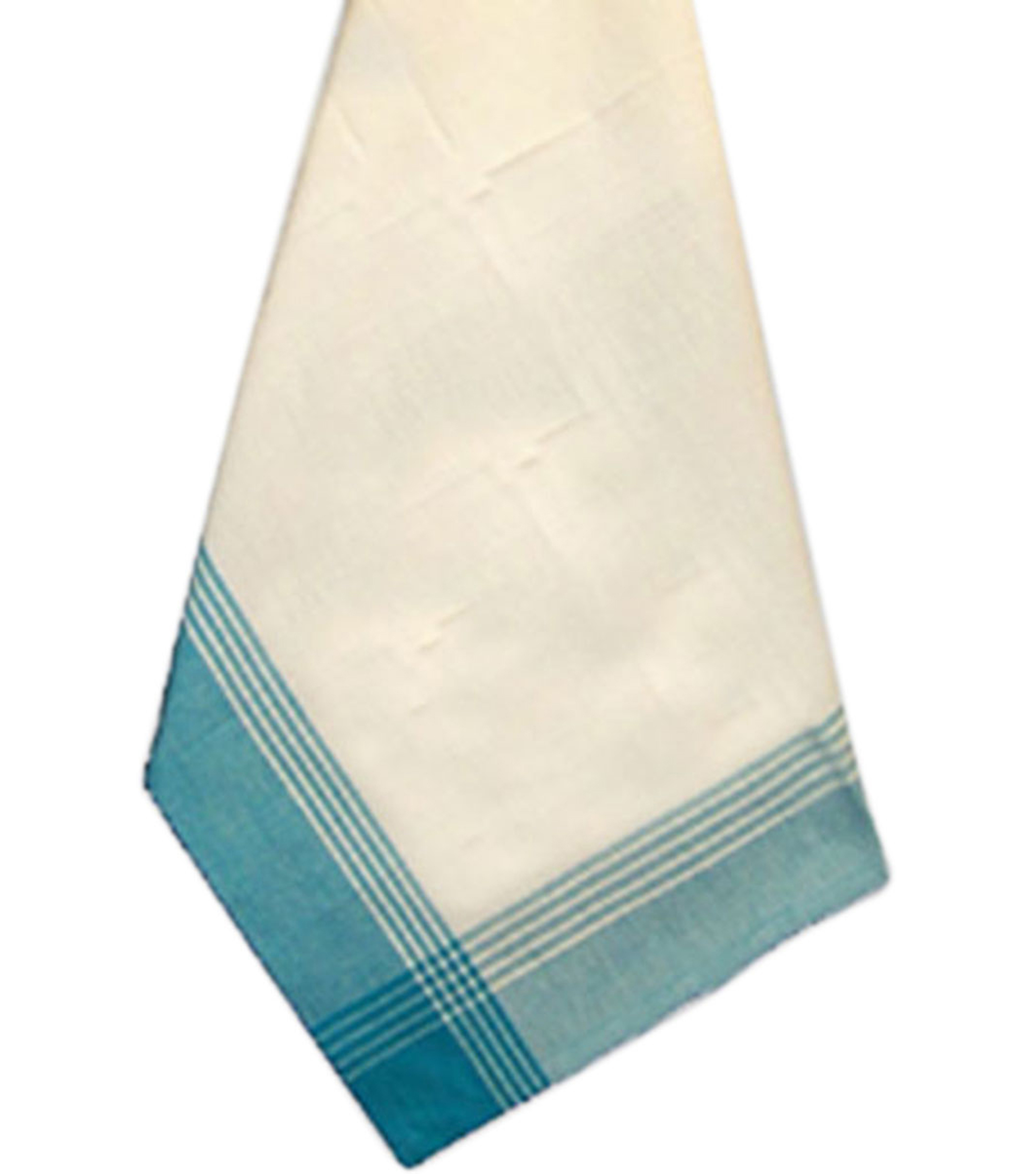 Dunroven House McLeod Tea Dyed Towel Stripes White & Turquoise